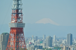 Tokyo Tower and Mount Fuji